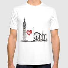 I love London White X-LARGE Mens Fitted Tee