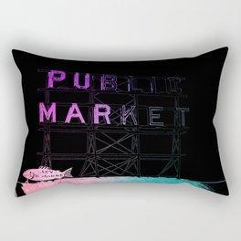 Seattle's Pike Place Rectangular Pillow