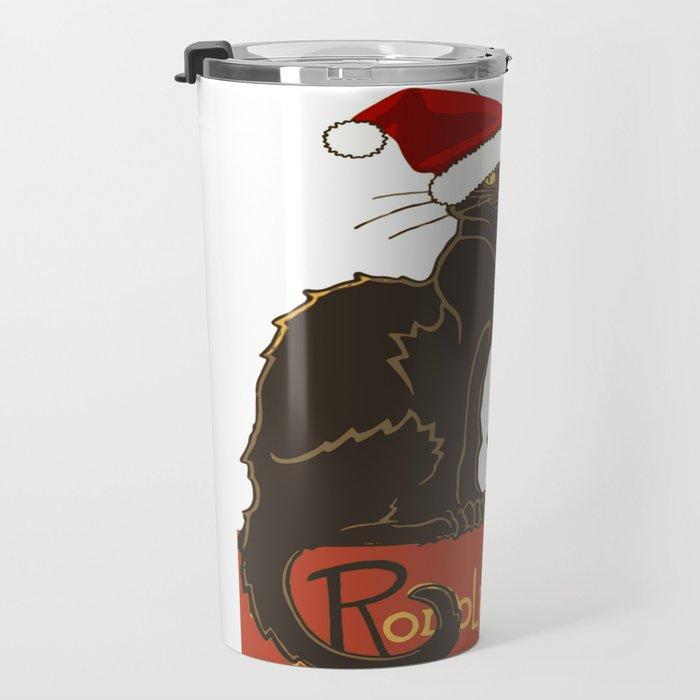 Joyeux Noel Le Chat Noir Christmas Parody Travel Mug