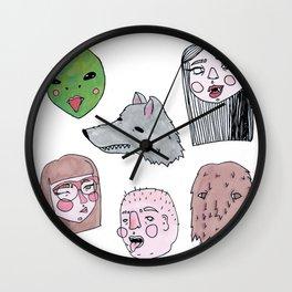 Friendly Nighbohood Monsters Wall Clock
