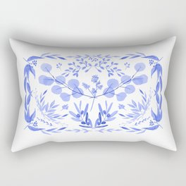 Indigo Scene Rectangular Pillow