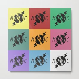 Vinyl Music Metal Print