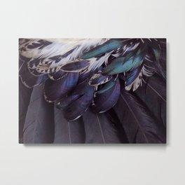 Teal and violet Plumage Metal Print