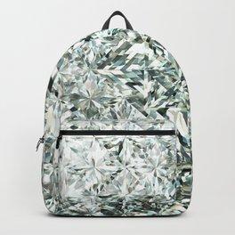 White Diamond Abstract Art Pattern 03 Backpack