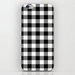 Gingham (Black/White) iPhone Skin