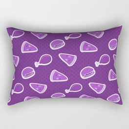 Pizza Burgers and Fried Chicken Time Picnic on Purple Rectangular Pillow