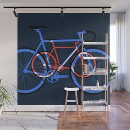 Fixed Gear Road Bikes – Blue, Purple and Red Wall Mural