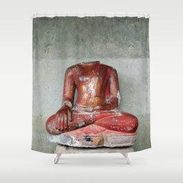 headless Buddha Shower Curtain