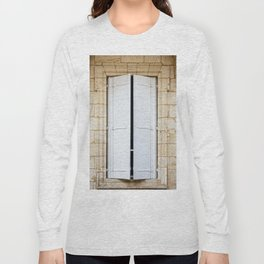 Old fashioned window with shutters Long Sleeve T-shirt