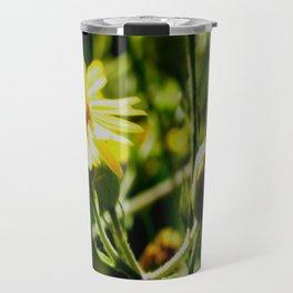 Sun Lit Flowers Travel Mug
