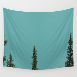 Canoe on Lake Louise Wall Tapestry