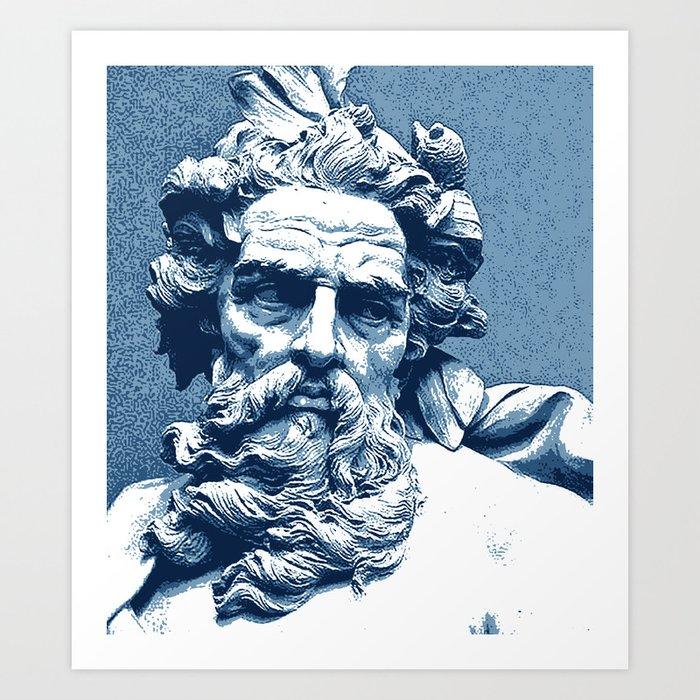 Poseidon Art Print By Sevini