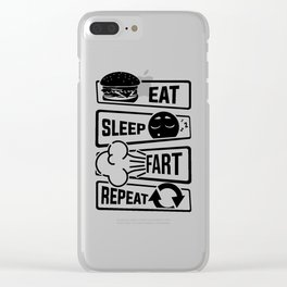 Eat Sleep Fart Repeat | Farting Flatulence Smell Clear iPhone Case