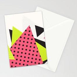 Jacksonville 1988 Memphis Throwback Retro 1990s 80s Trendy Hipster Pattern Neon Polka Dot Stationery Cards