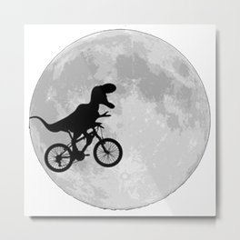dinosaur moon Metal Print