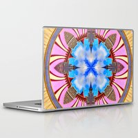 spires Laptop & iPad Skins featuring Castle Spires, kaleidoscope by designoMatt