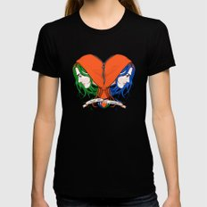 Clementine's Heart MEDIUM Womens Fitted Tee Black