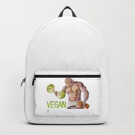 Vegan Power Design, Vegan Weight Training Weightlifting Gym Workouts Backpack