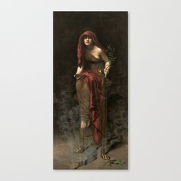 John Collier - Priestess of Delphi, 1891 Canvas Print