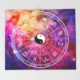 We are one with the universe Throw Blanket