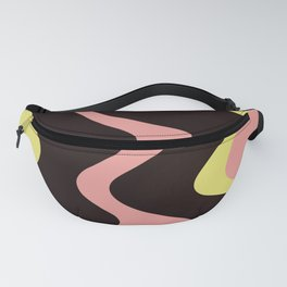 LIQUORICE swirls of black candy with pink yellow saltwater taffy Fanny Pack