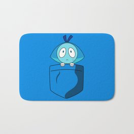 Aquamarine Pocket Tee Bath Mat