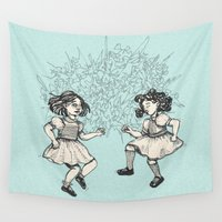 dancing Wall Tapestries featuring Dancing by Required Animals