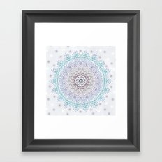 BLUE SUMMER MANDALA Framed Art Print