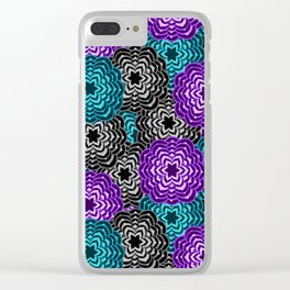Dahlia Multicolored Floral Abstract Pattern Clear iPhone Case
