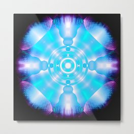 Time Space Crystal Abstract Metal Print
