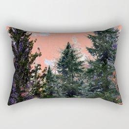CORAL PINK WESTERN PINE TREES MOUNTAIN LANDSCAPE Rectangular Pillow
