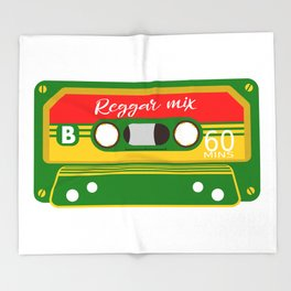 REGGAE MIX TAPE Throw Blanket