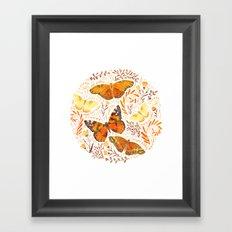 Orange Butterflies Framed Art Print