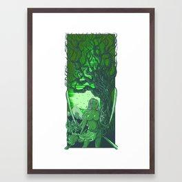 treesus green Framed Art Print