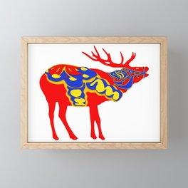 Graphic Dala Elk Framed Mini Art Print