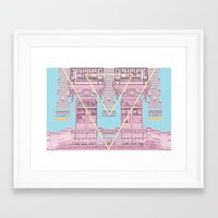 architecture Framed Art Prints featuring ARCHITECTURE by MAR AMADOR
