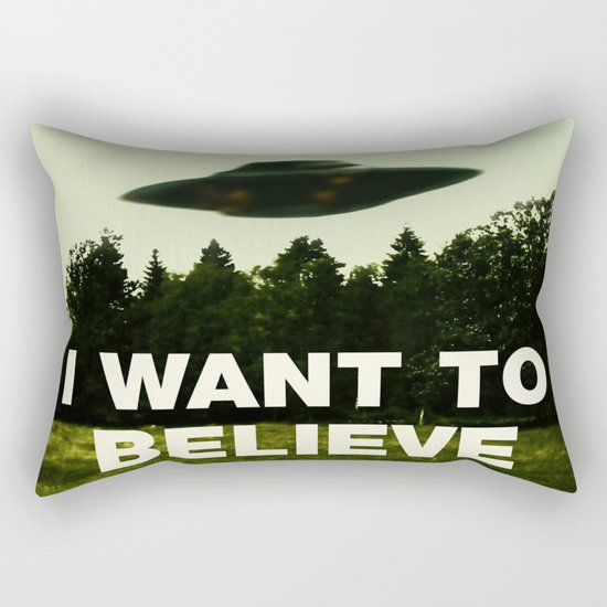 UFO, I Want To Believe Rectangular Pillow