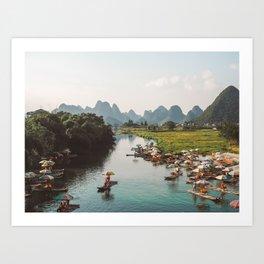 River bank scenic beauty Art Print