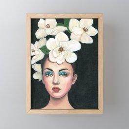 A crown of flowers Framed Mini Art Print