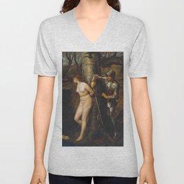 John Everett Millais - The Knight Errant Unisex V-Neck