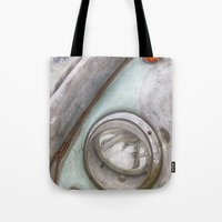 vw Tote Bags featuring VW Beetle by David Turner
