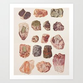 Vintage Gemstones Art Print