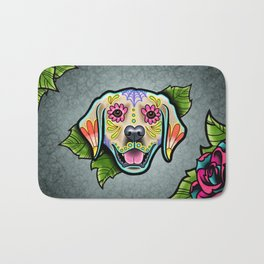 Golden Retriever - Day of the Dead Sugar Skull Dog Bath Mat