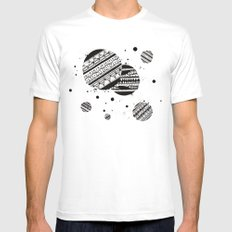 Pattern Doodle One MEDIUM White Mens Fitted Tee