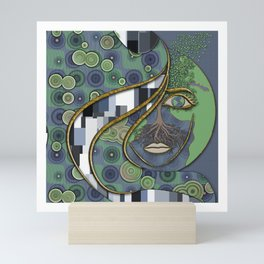 Face of Earth Mini Art Print
