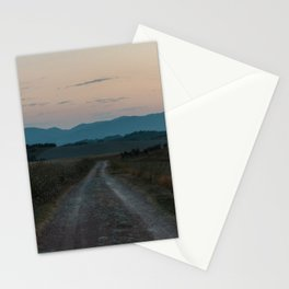 Sunset in the hills of Tuscany, Italy | Fine art nature travel photography Europe Stationery Cards