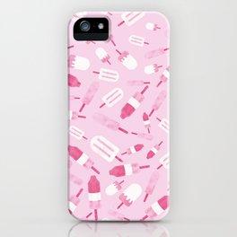 Ice Creams Duotone Pattern iPhone Case