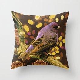 Brown Sparrow Throw Pillow