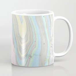 Pink coral mint green aqua watercolor abstract marble pattern Coffee Mug