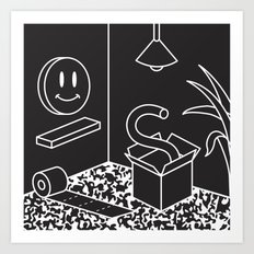Objects In Room Art Print
